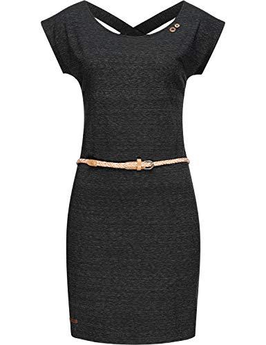 Ragwear Damen Kleid Dress Sommerkleid Strandkleid Jerseykleid Freizeitkleid Sofia Dress II Schwarz20 Gr. M