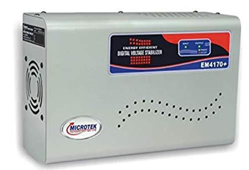 Microtek EM4170+ 170-280V Digital Voltage Stabilizer (Metallic Grey)