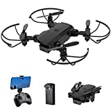 Mini Drone for Kids - 4K Dual Cameras FPV RC Quadcopter Foldable Remote Control Drone Toys Gifts for Boys Girls with Tap Fly | 3D Flip | Speed Adjustment | Altitude Hold | App Control