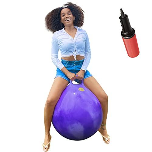 "WALIKI Hopper Ball | Adults 13-101 | Hippity Hop | Jumping Hopping Ball | Space Hopper | Purple 29"""