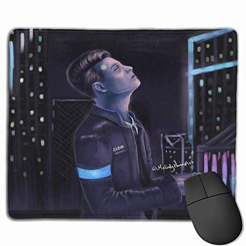 Connor the deviant - Detroit become human stitched edge laptop gaming mouse pad computer mousepad
