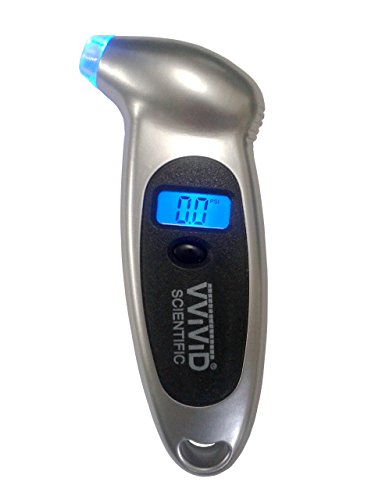 VViViD 150 PSI Light-Up Digital Tire Pressure Gauge Featuring Non-Slip Grip