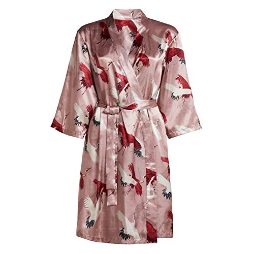 ESSENZA Bademantel Damen Kimono Crane Rose XL