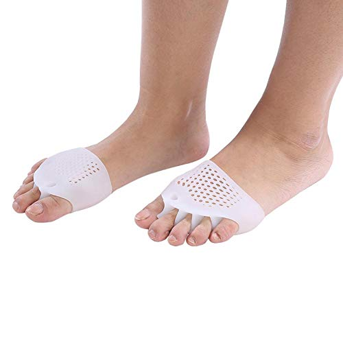 Silikon Zehen Corrector, 1 Para Silikon Bunion Haarglätter Hallux Valgus Corrector Zehenschutz Fußpflege Schmerzlinderung(Weiß)