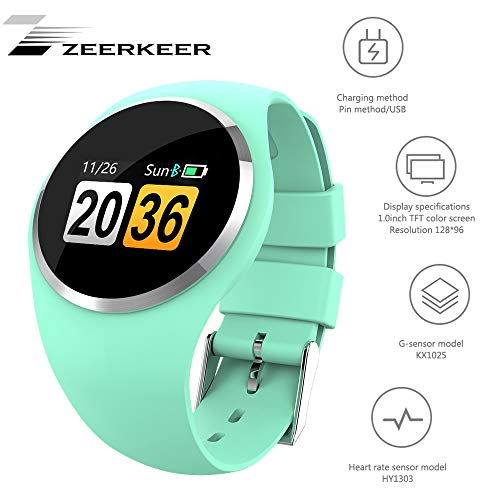Smartwatch, Zeerkeer armband horloge hartslag/bloeddruk/bloedzuurstofbewaking waterdicht IP67 Facebook/Twitter/WhatsApp fitness trackers (groen)