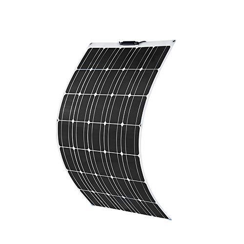 YUANFENGPOWER 100w 12v Flexibles Solarpanel monokristallines Solarmodul für Boot, Yacht, Camping, Caravan, Wohnmobil, 12v Batterieladen (100w-1)