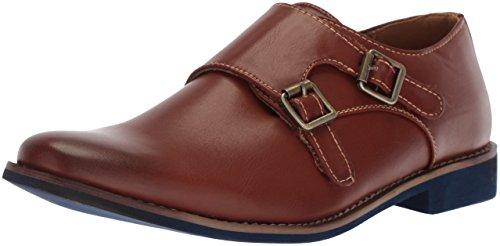 Deer Stags Boys' Harry Monk-Strap Loafer, Dark Luggage, 1 M Medium US Little Kid