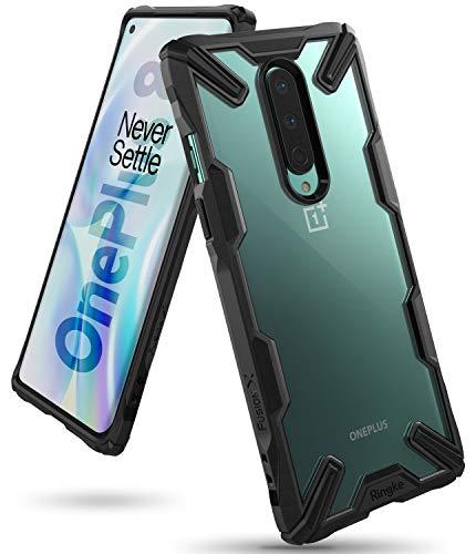 Ringke Fusion-X Compatibile con Cover OnePlus 8 Trasparente, Custodia OnePlus 8 con Paraurti Protettiva Antiurto TPU, Cover per OnePlus 8 (6.55 Pollice) - Black (Nera)