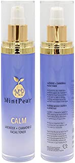 MintPear Lavender Toner With Roman Chamomile 100ml | Primer & Setting Hydrosol for Pores | Helps Unclog Pores and Decrease Acne| Facial Toner to Fight Ingrown hairs