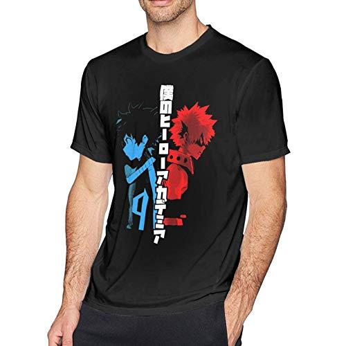 XCNGG Chicos Hombres Camisetas de algodón de Manga Corta Camisetas Casuales de Fitness con Cuello Redondo