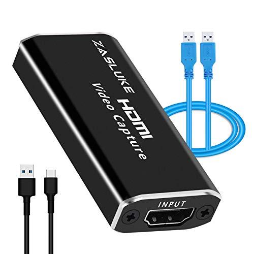 ZasLuke - Scheda di acquisizione video audio USB 2.0 1080p, per acquisizione ad alta definizione, gioco live streaming, condivisione schermo, registrazione video, immagini mediche, conferenze live