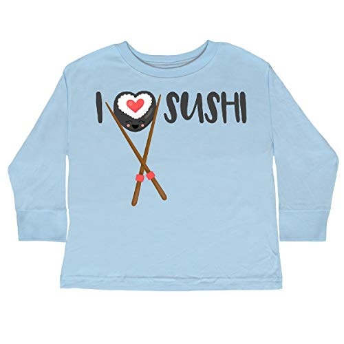 inktastic Kawaii I Love Sushi Toddler Long Sleeve T-Shirt 2T Light Blue...