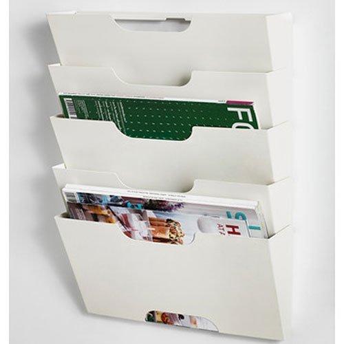Ikea Kvissle Zeitschriftensammler/Zeitschriftensammler, Metall, Weiß