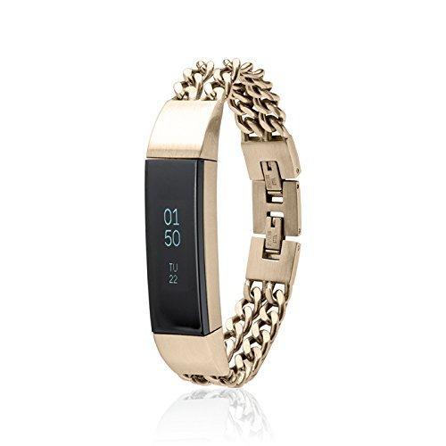 fitjewels Alta Banda Noe - Gioielli per Fitbit Alta HR - Alta Accessori S-M (5.5-6.5 Pollici) Oro