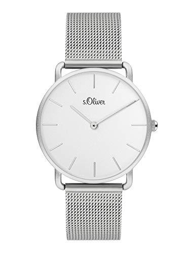 s.Oliver Damen Analog Quarz Uhr mit Edelstahl Armband SO-4061-MQ