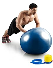 House of Quirk Gym Exercise-Ball for Fitness, Stability, Gym, Balance and Yoga/Yoga-Ball Chair/Balance Ball with Pump (Blue)