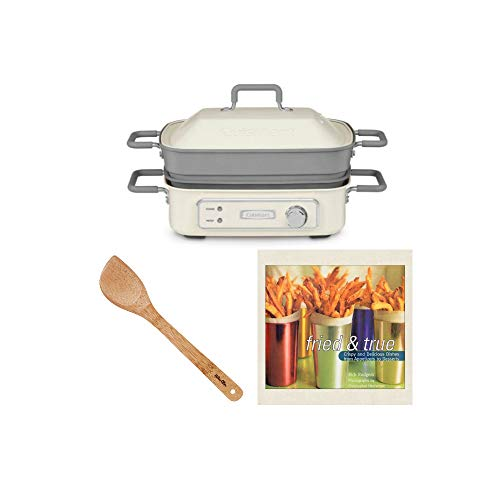 Cuisinart STACK5 Multi-Functional Grill with 15-Inch Bamboo Stir Fry...