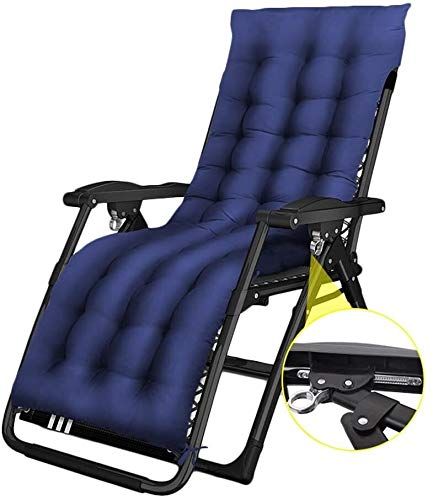 ZYLHC Reclining Outdoor Folding Chairs Lounge Chair Summer siesta lounge chair Office portable folding chair Beach chair lounge chair Pregnant women chair Siesta chair Comfortable (Color : Blue)