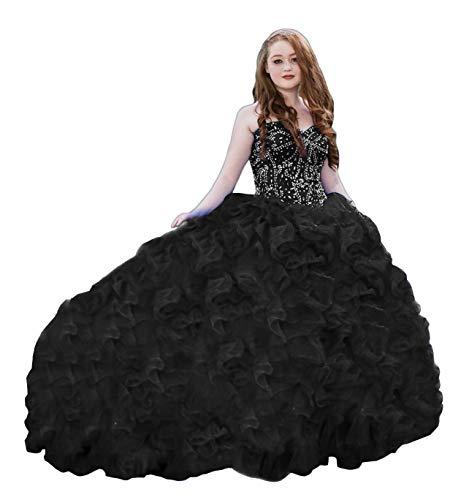 XSWPL 화려한 무거운 페르시 ORGANZA QUINCEANERA 드레스 달콤한 16 공 가운을위한 드레스