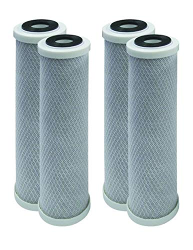 4-Pack Compatible for WaterPur CCI10CLW12 Activated Carbon Block Filter - Universal 10 inch Filter for WaterPur CCI-10-CLW12 Water Filter Housing