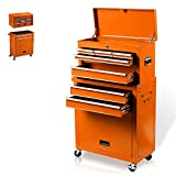 8-Drawer Rolling Tool Box, Rolling Tool Chest with Drawers and Wheels, Tool Storage Cabinet with 4...