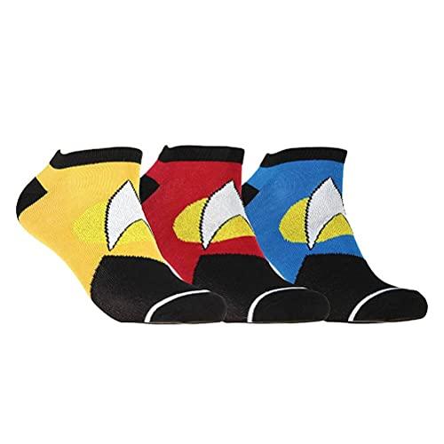 Bioworld International Star Trek Sneaker Socken 3er Set Logo Uniform Design 43-46 gelb blau rot