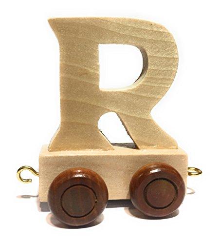 Buchstabenzug | Wunschname zusammenstellen | Holzeisenbahn | EbyReo® Namenszug aus Holz | personalisierbar | auch als Geschenk Set (Buchstabenzug R)