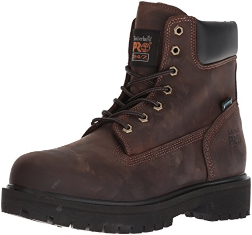Timberland PRO Men's Direct Attach Six-Inch Soft-Toe Boot, Brown Oiled Full-Grain,7 M