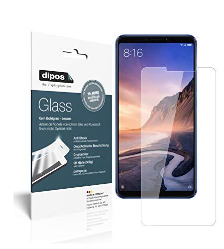 dipos I 2X Panzerfolie klar kompatibel mit Xiaomi Mi Max 3 Schutzfolie 9H Bildschirmschutz-Folie