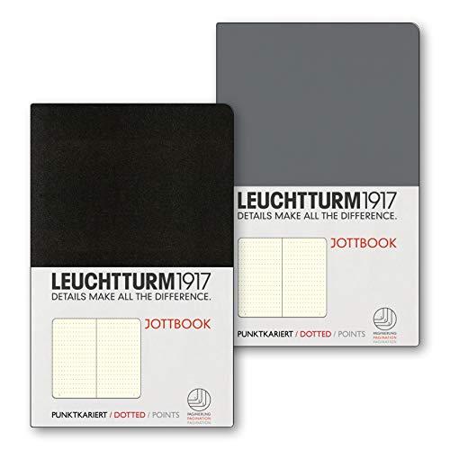 LEUCHTTURM1917 362714 Jottbook Flexcover Pocket (A6), Doppelpack, Dotted, Anthrazit +...