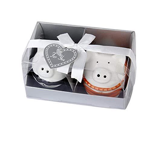 PULABO - Juego de salero y pimentero de cerámica para parejas, ideal...