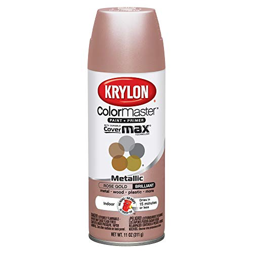Krylon 43264846 11oz Colormaster Indoor Aerosol Paint 11oz GOLD11oz-ROSE