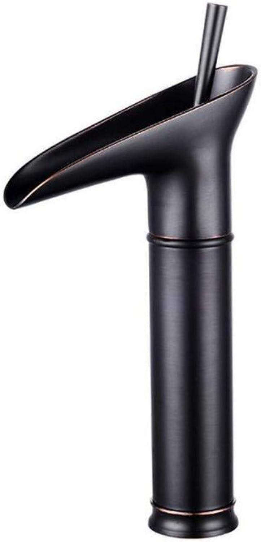 Taps Kitchen Sinkcopper European-Style Antique Faucet Cold-Hot Black Retro Basin Faucet Single