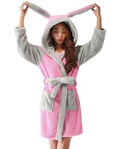 Robe Luxury Terry Toweling Bata Albornoz Hombre Y Mujeres con Capucha Baño Abrigo Pijamas De Animales