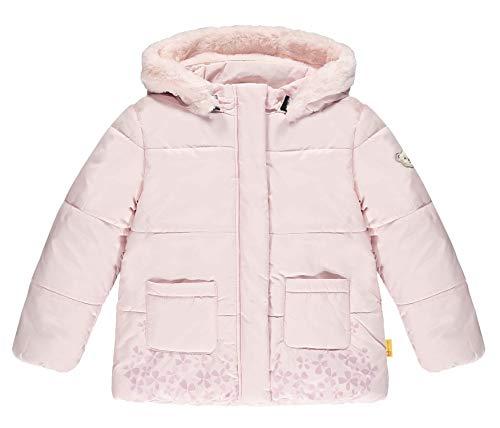 Steiff Mädchen mit süßer Teddybärapplikation Jacke, Rosa (Barely Pink 2560), 104