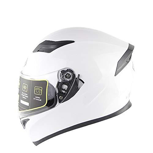Evin Vollgesichtsmotorrad Motorradsturzhelm DOT-zertifizierter Rennradmotorradhelm Cromwell-Helm Jet-Doppelspiegel-Modular-Flip-Helm (M, L, XL, XXL),XXL