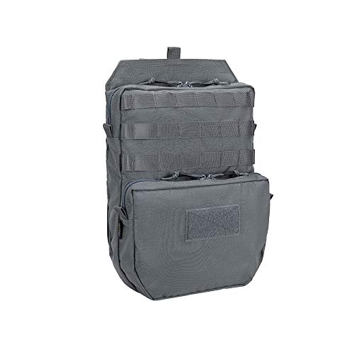 EXCELLENT ELITE SPANKER Tactical MOLLE Hydration Pack for 3L Hydration Water Bladder Molle Vest Accessory (Grey)