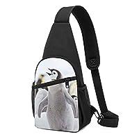 動物 かわいい ペンギン ワンショルダーバッグ クロスボディバックパック ボディバッグ 斜めがけ バッグ おしゃれ 男女兼用 軽量 大容量