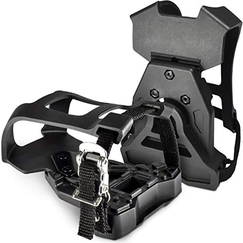 MARQUE Peloton Compatible Toe Cage - Ride with Regular Sneakers Using Clip On Toe Cage Adaptor to Look Delta Peloton Pedals and Indoor Exercise and Fitness Bikes (Toe Cage)