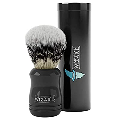 Well Groomed Wizard Shaving Brush, Synthetic Badger Hair with Travel Case by Well Groomed Wizard