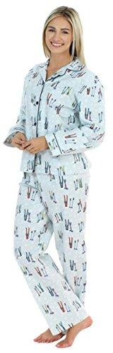 PajamaMania - Pijama para Mujer - Ropa de Dormir para Mujer- Conjunto de Pijama de Franela de Manga Larga