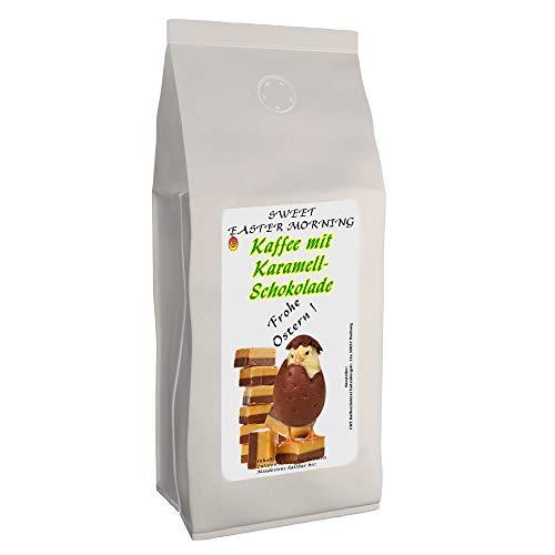 "Osterkaffee ""Sweet Easter Morning"" mit Karamell-Schoko-Geschmack | 500 g Ganze Bohnen | Aromatisierter Kaffee als Ostergeschenk | Flavoured Coffee"