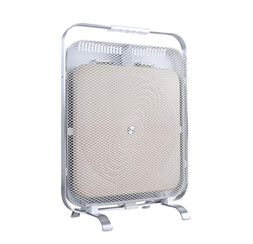 BioSari BSMH Marmorheizung, Rahmen & Füße: Aluminium, Heizelement: Marmor, Vordere Netzabdeckung & Rückgehäuse: SPCC, Griff und Griffgehäuse: Polycarbonat