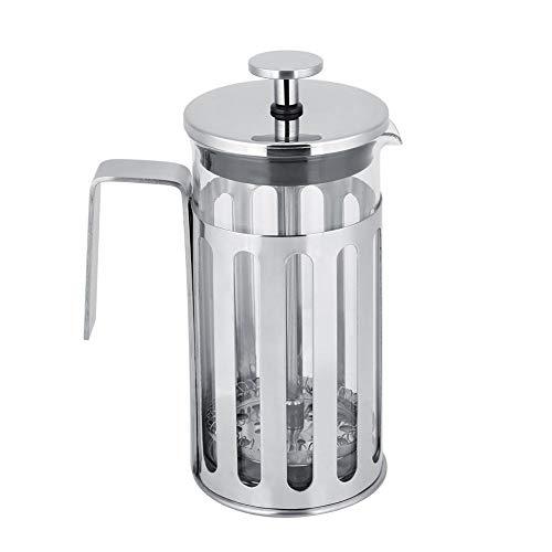 Koffiemok roestvrij staal koffiezetapparaat glas Franse pers filter espresso koffie pot huishouden theekoker 350ML