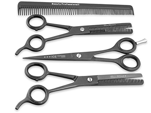Friseurscheren Set 6 Zoll Haarschere Effilierschere Modellierschere Kamm ICE Tempered Stainless Steel