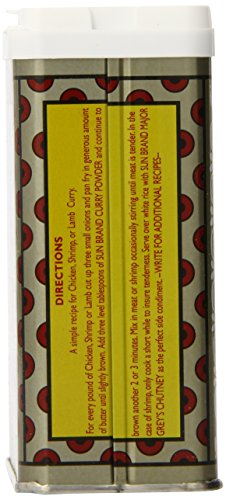 Sun Brand Madras Curry Powder, 4-Ounce Tins (Pack of 12)