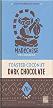 Madecasse Toasted Coconut Dark Chocolate Bar, 2.64 oz - 3 pack