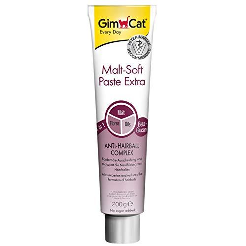 GimCat Malt-Soft Paste Extra - Anti-Hairball Katzensnack fördert Ausscheidung von Haarballen - 1 Tube (1 x 200 g)