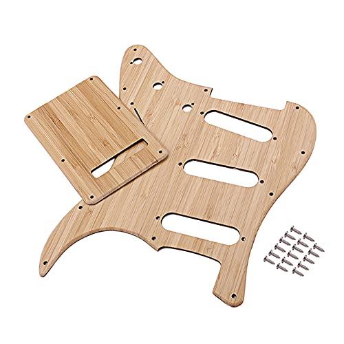 sharprepublic Placa de Rasguño de Golpeador de Guitarra SSS de 11 Orificios para Accesorios de Guitarra Eléctrica