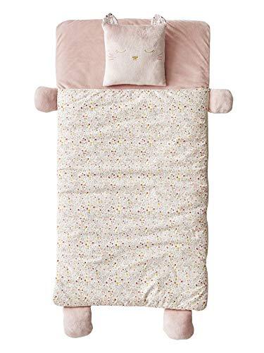 Vertbaudet Kinder-Schlafsack,Katze rosa geblümt/Katze ONE Size